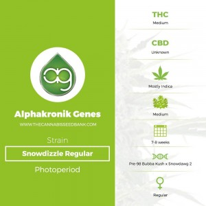 Snowdizzle Regular (Alphakronik Genes) - The Cannabis Seedbank