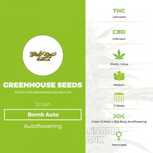 Bomb Auto (Greenhouse Seed Co.) - The Cannabis Seedbank