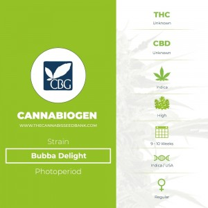 Bubba Delight Regular (Cannabiogen) - The Cannabis Seedbank