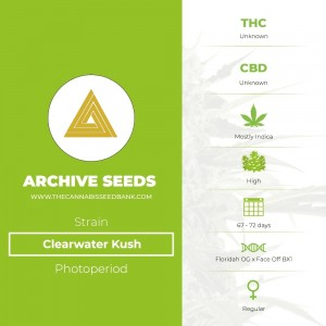 Clearwater Kush Regular (Archive Seeds) - The Cannabis Seedbank