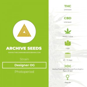 Designer OG Regular (Archive Seeds) - The Cannabis Seedbank
