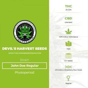 John Doe Regular (Devils Harvest Seeds) - The Cannabis Seedbank