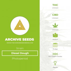 Diesel Dough Regular (Archive Seeds) - The Cannabis Seedbank