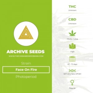 Face On Fire Regular (Archive Seeds) - The Cannabis Seedbank