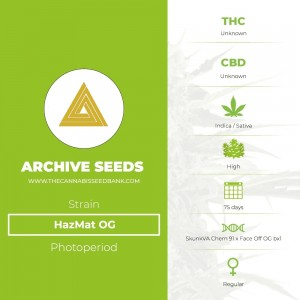 HazMat OG Regular (Archive Seeds) - The Cannabis Seedbank