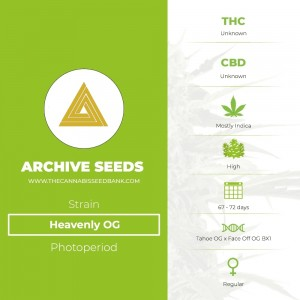Heavenly OG Regular (Archive Seeds) - The Cannabis Seedbank