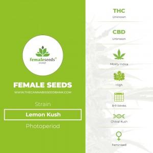 Lemon Kush (Female Seeds) - The Cannabis Seedbank