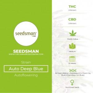 Auto Deep Blue Feminised Seedsman - Characteristics