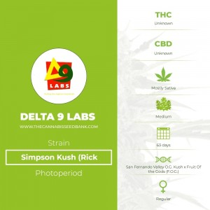 Simpson Kush (Rick Simpson) Regular (Delta 9 Labs) - The Cannabis Seedbank