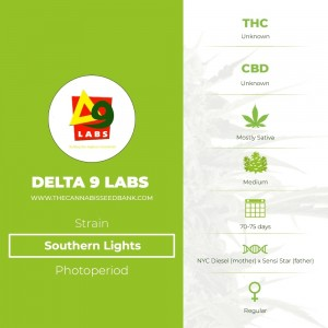 Southern Lights Regular (Delta 9 Labs) - The Cannabis Seedbank