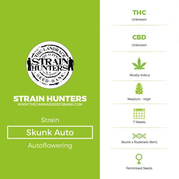 Skunk Auto - Autoflowering - Strain Hunters - Characteristics