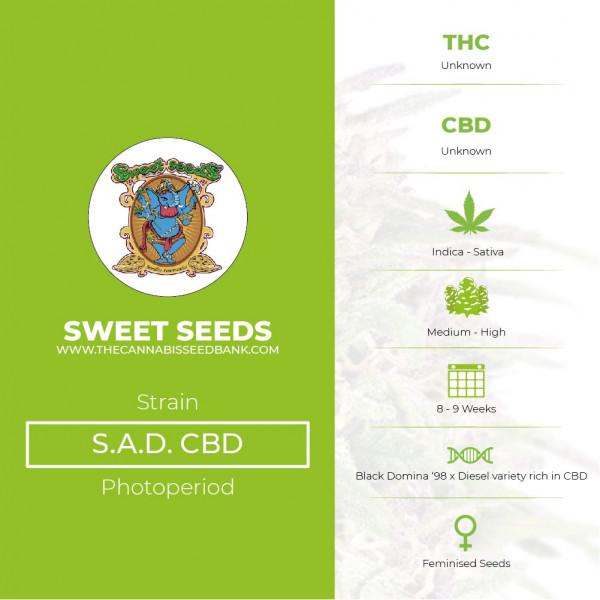 S.A.D. CBD Feminised Sweet Seeds - Characteristics